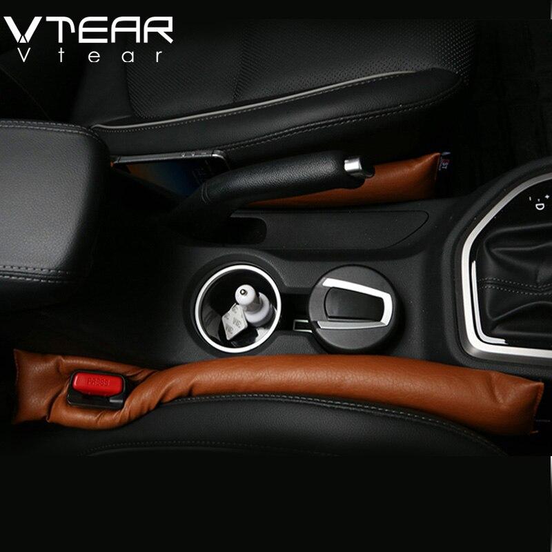 2 pcs General car seat crevice interior seat cover leakproof protective sleeve seam for Hyundai creta ix25 RAV4 2016 styling  Mitsubishi Pajero