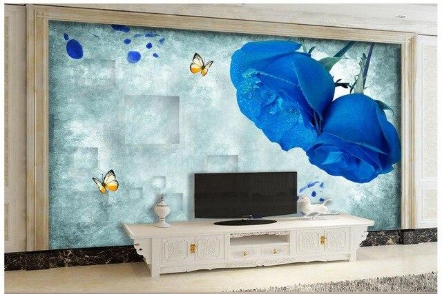 Parete Con Carta Da Parati.Personalizzato 3d Wallpaper Per Pareti 3 D Parete Murales Fiore