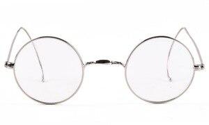 Image 4 - AGSTUM 39mm okrągły Vintage Antique Wire okulary do czytania czytnik okularów + 0.25 + 0.5 + 0.75 + 1.0 + 1.25 + 1.5 + 1.75