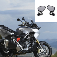 Universal 2pcs Pair Motorcycle Motorbike Rear View Aluminum 7 8 22mm Bar End Side Rearview Mirrors