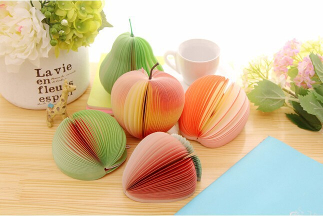 2017 New Papelaria  Cute Novelty Various Fruit Design Memo Pad Sticky Notes Notebook Promotional Gift Stationery K6441