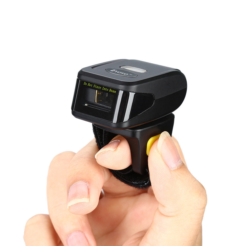 EYOYO MJ-R30 Barcode Scanner Bluetooth 1D Wireless Mini Portable HID SPP 1D Scanner Bar Code Reader For Android IOS Phones PC