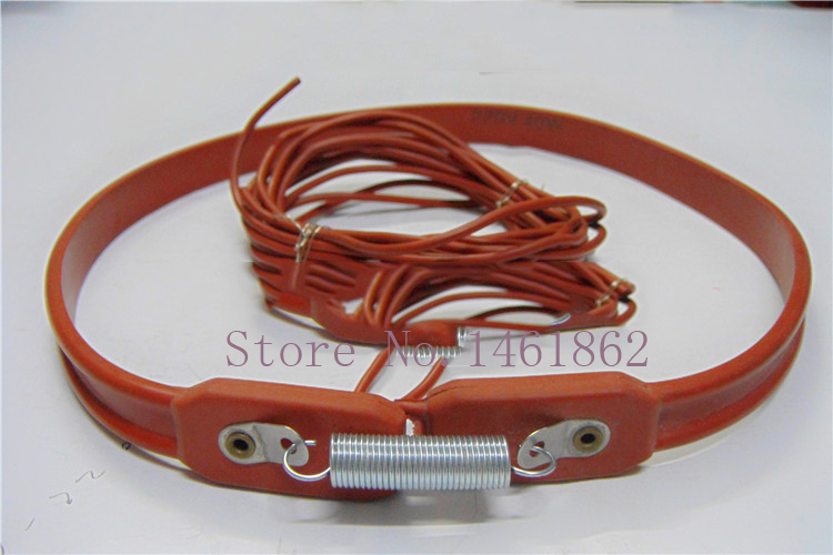Heating Element  rubber waterproof pipeline heater band air conditioning compressor crankcase Silicone Heater ,15x730mm 50W 220V brick red pipeline waterproof heating cable 220v 10m x 25mm