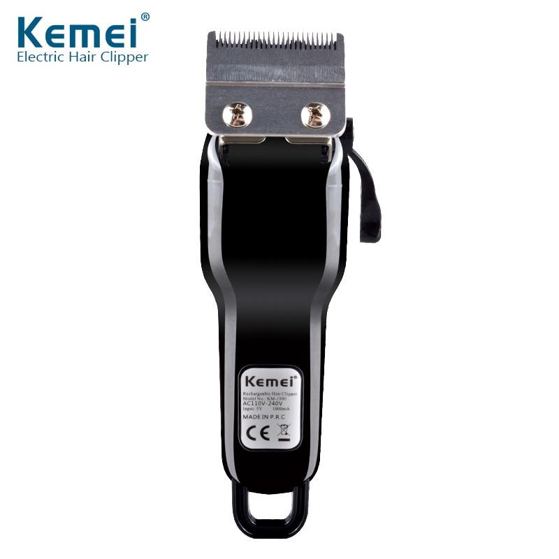 KM-1990 tondeuse à cheveux Rechargeable professionnel tondeuse à cheveux Machine à raser les cheveux coupe barbe rasoir électrique pour les hommes - 3