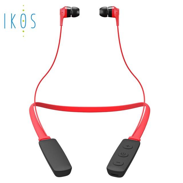 IKOS Bluetooth Earphone4.2 deportes auriculares inalámbricos en la oreja los auriculares con micrófono para iPhone Android