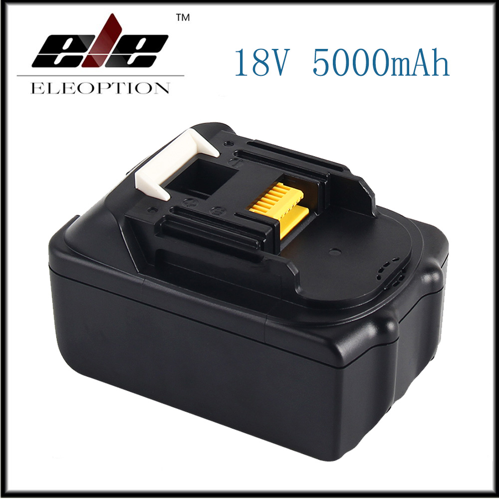 ELE New 18V 5000mAh Li ion Power tools Replacement battery For Makita BL1815 BL1850 LXT400 BL1840 BL1830 Rechargeable batteria