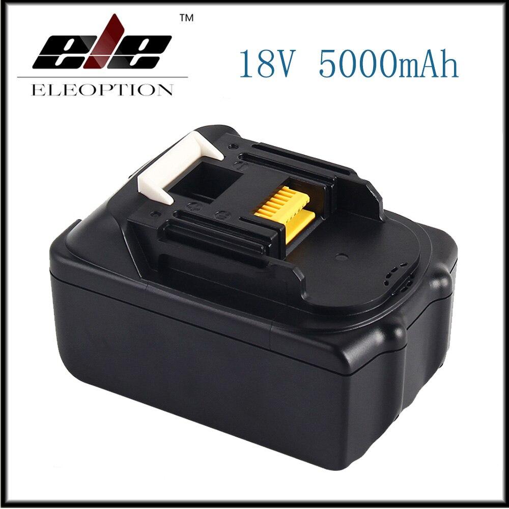 ELE Nouveau 18 v 5000 mah Li ion outils Électriques batterie De Remplacement Pour Makita BL1815 BL1850 LXT400 BL1840 BL1830 Rechargeable batteria