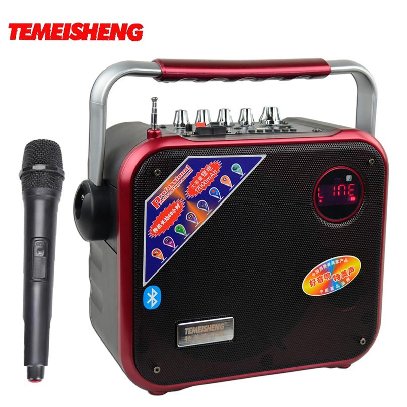 30W High Power Bluetooth Speaker Portable Subwoofer Play TF Card And USB Wireless Microphone And FM