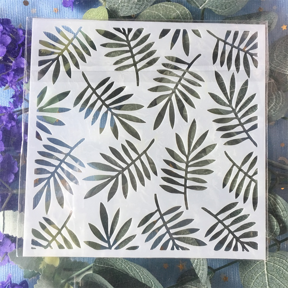 New 13cm Leaf DIY Craft Layering Stencils Wall Painting Scrapbooking Stamping Embossing Album Card Template