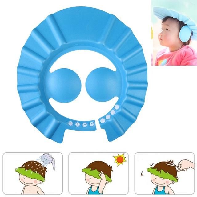 Safe Baby Shower Cap Kids Bath Visor Hat Adjustable Baby Shower Cap Protect Eyes