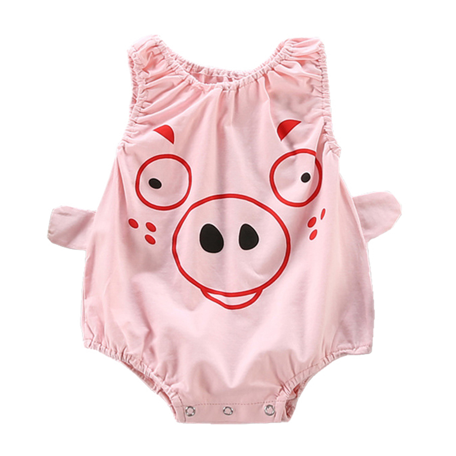 Cute 3D pig Newborn Baby Girls Boys Jumpsuit bodysuit baby girl clothes Outfits
