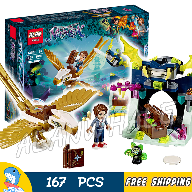 167pcs Elves Emily Jones & the Eagle Getaway Lumia Cave with Glider 30014 Model Building Blocks Toys Bricks Compatible with Lego