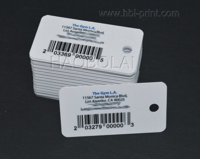 Plastic key tag card with inkjet barcode 542805mm hole punched plastic key tag card with inkjet barcode 542805mm hole punched coated colourmoves