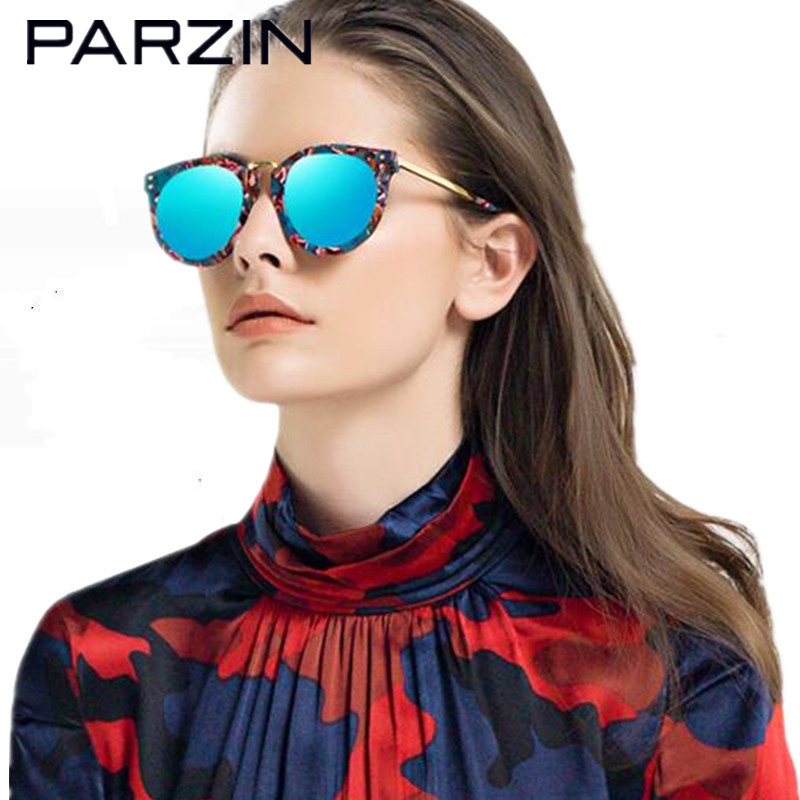 Parzin Polarized Sunglasses Women Hand Made Vintage Female Sun Glasses Lovers Colorful Eyewear Ladies Shades With