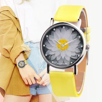 Fashion Women Lotus Flower Buckle Analog Clock Faux Leather men Quartz Wrist Watch Unisex Bracelet Party Gift cross layered faux leather bracelet