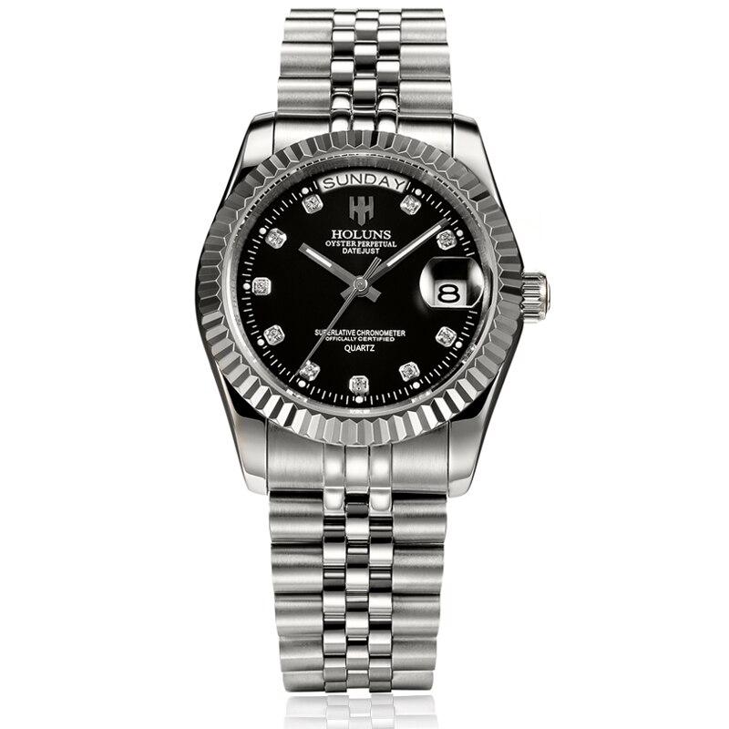 Mens relojes de lujo superior de la marca negocio clásico de cuarzo de oro de acero inoxidable calendario reloj impermeable relogio masculino - 5