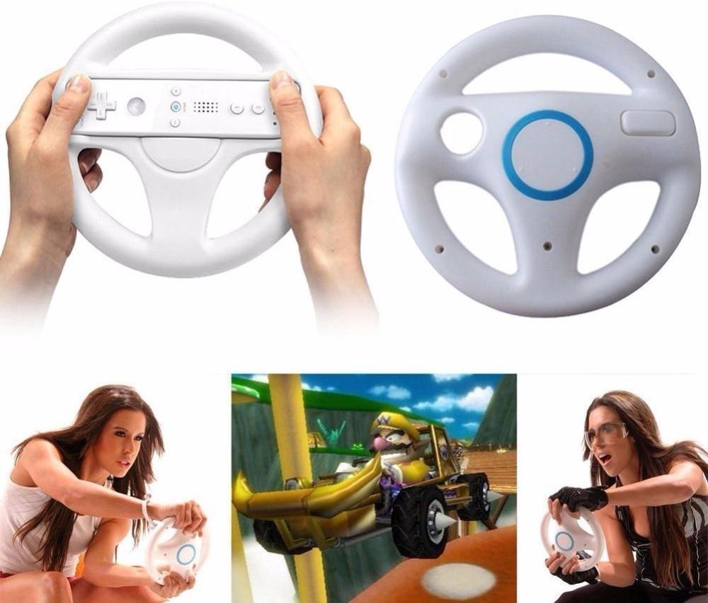 2Pcs Steering Wheel for Mario Kart Game Remote Controller Driving Wheel for Mario Kart T ...