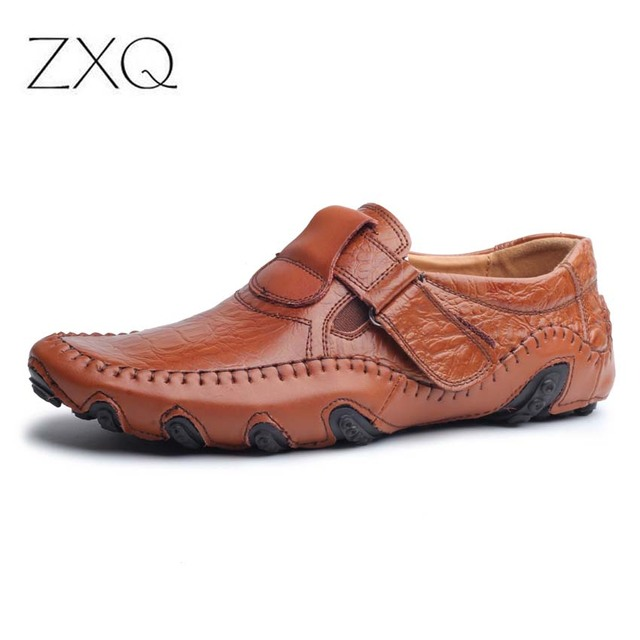 New Design 2017 Spring Summer Men Flat Shoes Soft Split Leather Male Moccasin Driving Loafers Shoes Casual Sapatos Homens 1