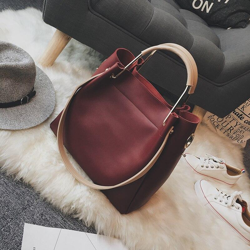 Handbags Women Bags Leather Set 2018 Beige Wedding Big Fashion Elegant Hand Bag Shoulder Totoes Female Crossbody Bolsa Feminina
