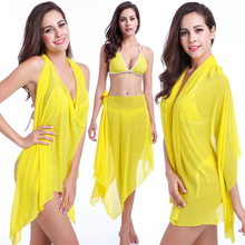 10 Wear Options Bright Colors Beach Wears 2018 Stretch Mesh Convertible Infinite Dress Magic Beach Dress