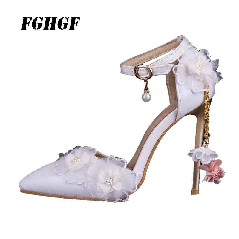 Women 39 S High Heels Belt Petal Decorate String Bead Sexy Power Woman Ethos Comfortable Wearing Women 39 S High Heels Shoes in Women 39 s Pumps from Shoes