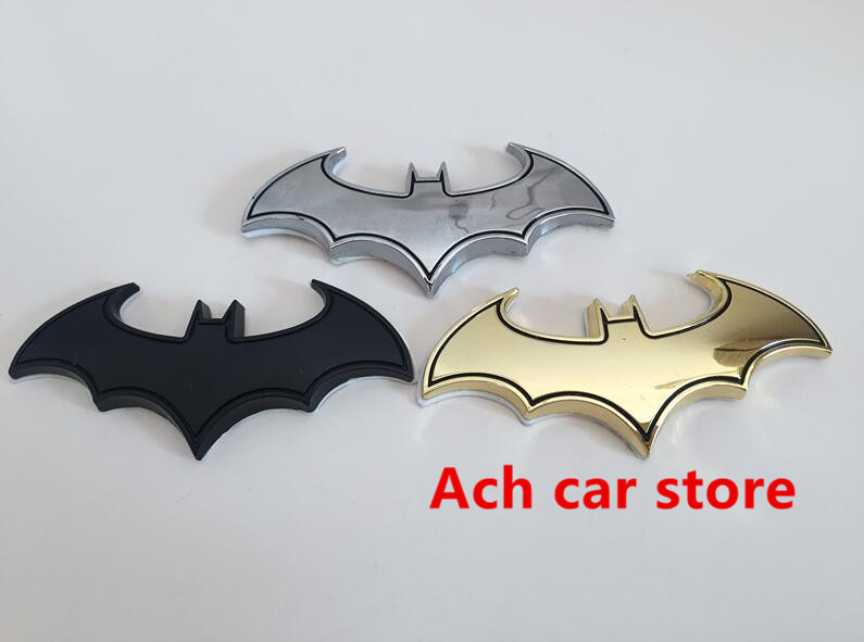 Superman Car Accessories: 2pcs Hot Sale 3D Metal Batman Superman Car Side Sticker