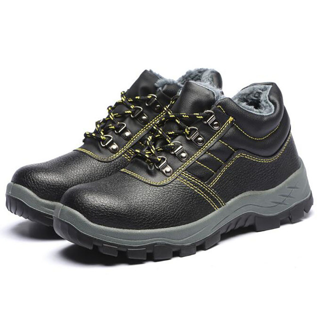 8d175bcd8d Homens tamanho grande casuais biqueira de aço tampas de algodão luvas de  trabalho de segurança sapatos