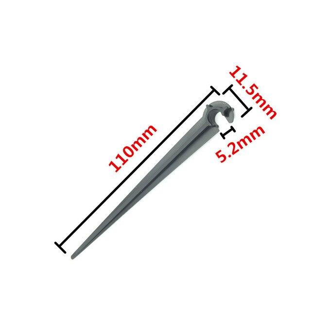 """10 pz Staffa Tubo """"C"""" Forma Fisso Steli Supporto Per Gocciolamento 4/7mm Giardin"""