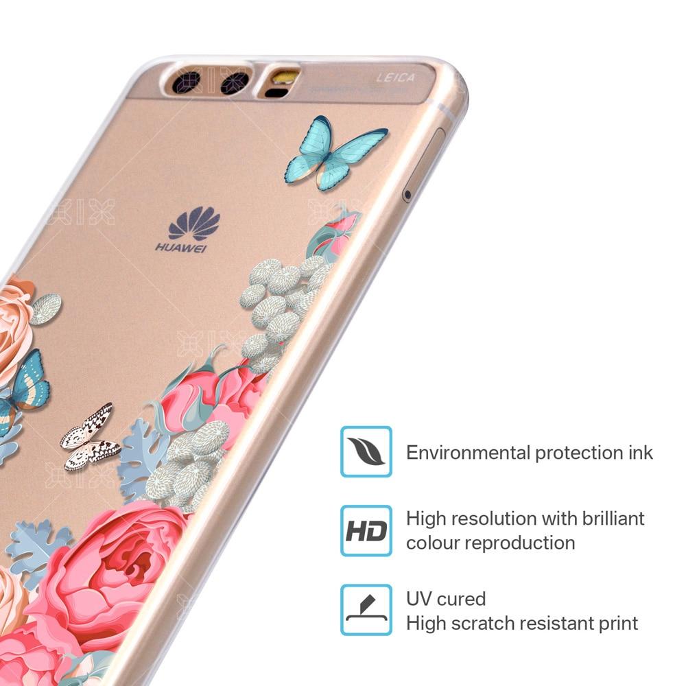 For Huawei P10 Lite Case Rose Cover Huawei P9 Lite Case P8 P9 P10 ...