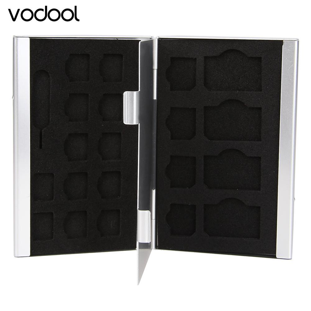 21 in 1 Portable Aluminum SIM Micro Nano SIM Card Pin Memory Card Storage Box Case Holder Protector Silver цена