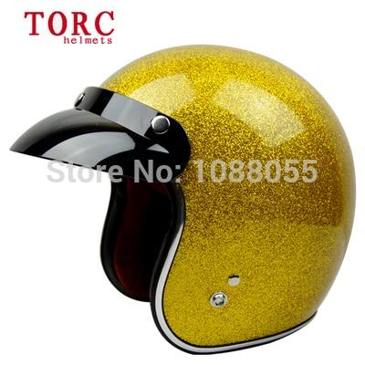 2014 new brand TORC moto chrome casco capacete motorcycle helmet 3/4 open face vintage motocross helmets DOT  M ~ XXL