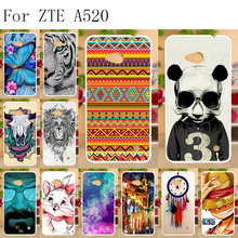 Anunob Silicone Cover For ZTE Blade A520 Case Cute Animal Funda Phone Bumper A 520 BA520 5.0