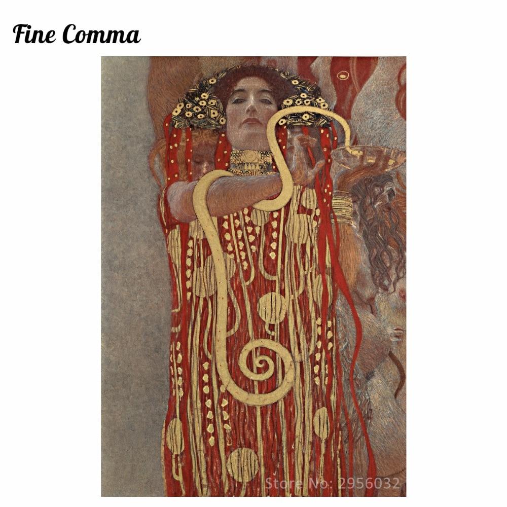 Hygieia medicíny Gustav Klimt Obrazy na plátně Obrazy na stěně Umělecké olejomalby Reprodukce do obývacího pokoje