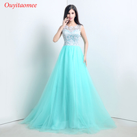 2018 Tulle Evening Dress White Lace Green A Line Woman Party Dresses Birthday Party Evening Gown