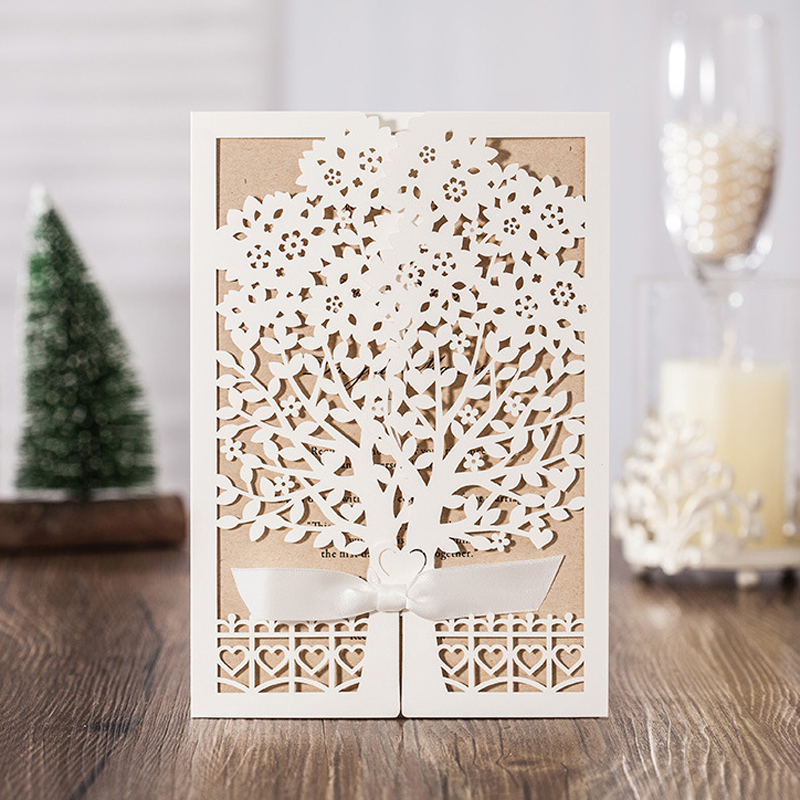 Buy Wedding Invitation Cards Online: Aliexpress.com : Buy Ivory Tree Invitation Cards Vintage