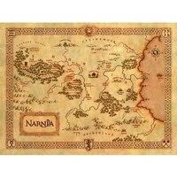 Duża z rocznika płótnie malarstwo wall art picture home decor Narnii treasure map dla salonie bezpłatną wysyłką