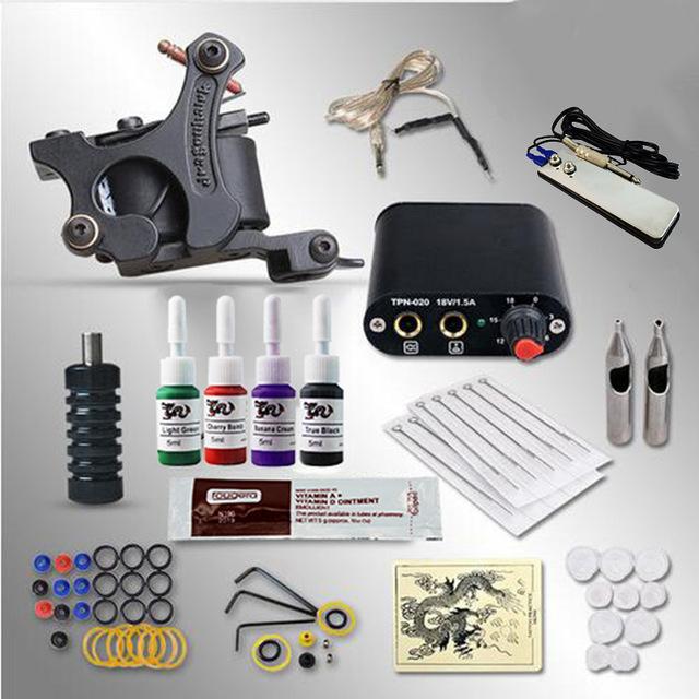 ITATOO Tatuagem Kit Máquina de Tatuagem Barato Definir uma Caneta Kit Tinta de Tatuagem Machine Gun Suprimentos Para Jóias PX110002 Arma Profissional