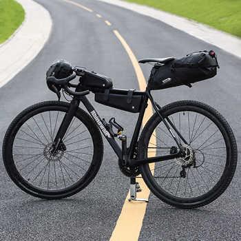 RHINOWALK Bicycle Bag Waterproof Bike Saddle Bag Mountain Road Cycling Tail Rear Bag Luggage Pannier Pouch Bike Accessories 12L