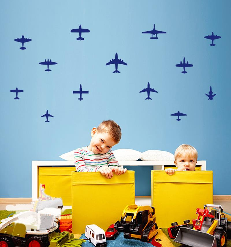 13pcs Diy Airplane Wall Decals Airplane Vinyls Wall Sticker Boys
