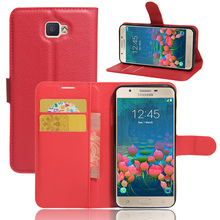 Deluxe Wallet with Stand Vintage PU Leather Case for Samsung Galaxy J5 2016 9 Colors Phone Bag Cover with Card Holder