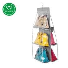 Нетканая сумка висячая сумка для хранения Кошелек Сумка-тоут сумка органайзер для хранения в шкафу вешалки