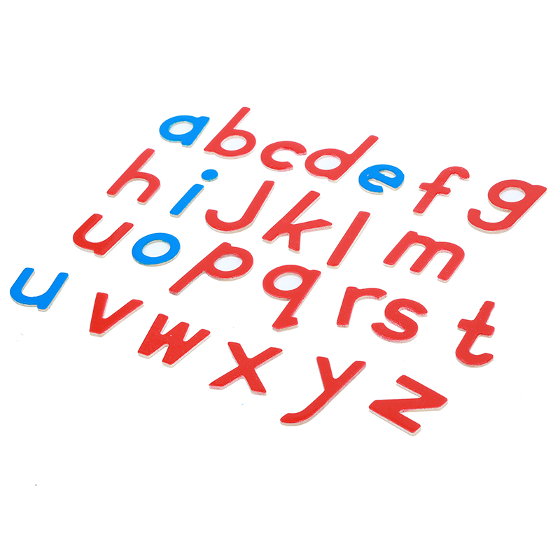 Bébé Jouet Montessori Bois Petit Alphabet Mobile Rouge et Bleu avec la Boîte Préscolaire Précoce Enfant Brinquedos Juguetes - 4