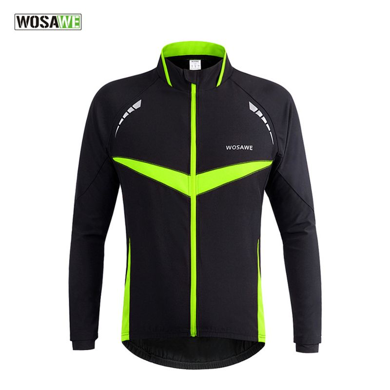 WOSAWE Autumn Winter Warmer Cycling Jacket Outdoor Sports MTB Road Bicycle Bike Jackets Jersey Outerwear With Reflective Pockets outdoor sports pockets sv012199