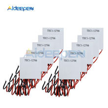 цена на 10PCS TEC1-12706 TEC112706 12706 TEC Thermoelectric Cooler Peltier 12V Semiconductor Refrigeration Heatsink Plate Module