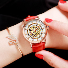Women Watches Luxury Brand Fully Hollowed Out Luminous Automatic Mechanical Watch Fashion Female Business Relogio Feminino