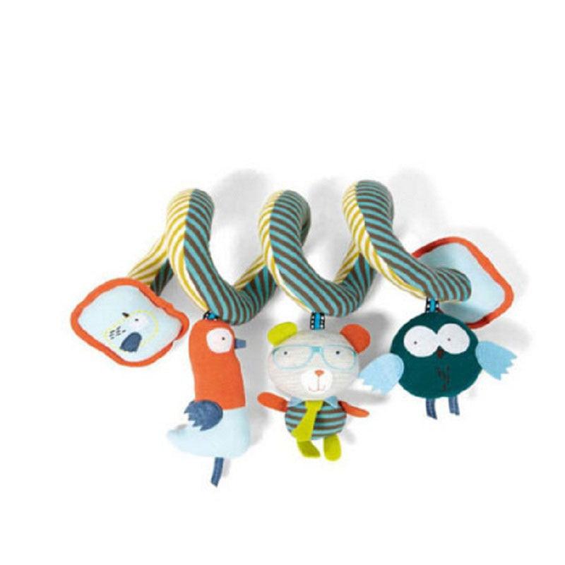2016 új design aranyos csecsemő többfunkciós baba játékok oktatási babakocsi plüss puha gyerekek játékok ágy mobil baba csörgő