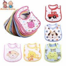 15Pc/Lot Lovely Cute Cartoon Pattern Toddler Baby Waterproof Saliva Towels Choosed Cotton Baby Bibs Gifts 0 3 YEARS