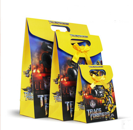 Free Shipping New Arrival Birthday Party Supplies Transformers Bumblebee Gift Bags Hand High Quality 12pcs