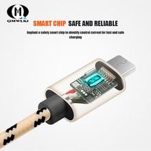 Mikro USB Kabloları 1.5m 2m Hızlı Şarj Naylon USB Sync Veri Cep Telefonu Android Adaptörü şarj aleti kablosu Samsung için Samsung için