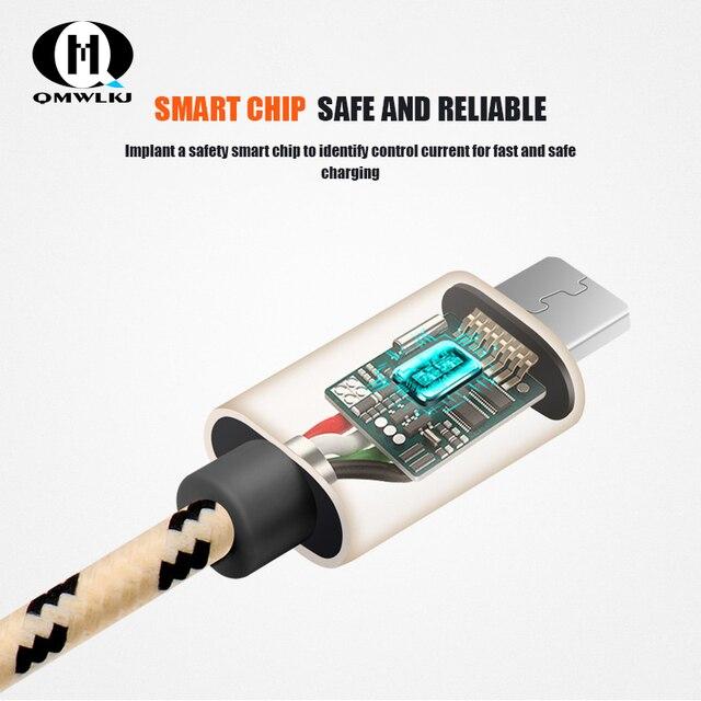 마이크로 usb 케이블 1.5m 2m 빠른 충전 나일론 usb 동기화 데이터 휴대 전화 안 드 로이드 어댑터 충전기 케이블 삼성 케이블
